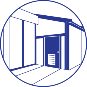 blue door icon