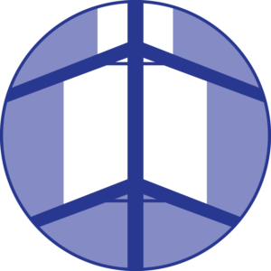blue glass canopy icon